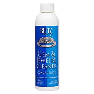 jewelry cleaner concentrate, blitz gem  jewelry cleaner. sold per 8-ounce bottle.
