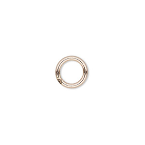 jumpring, 14kt rose gold-filled, 5mm soldered round, 3.4mm inside diameter, 20 gauge. sold per pkg of 20.