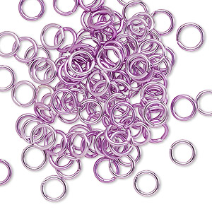 jumpring, anodized aluminum, light purple, 5.5mm round, 3.5mm inside diameter, 18 gauge. sold per pkg of 100.