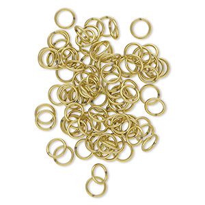 jumpring, brass, 8mm soldered round, 6.2mm inside diameter, 18 gauge. sold per pkg of 100.