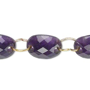 link, amethyst (natural), dark, 16x12mm-18x13mm graduated hand-cut curved faceted oval, b+ grade, mohs hardness 7. sold per pkg of 5.
