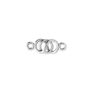 link, jbb findings, sterling silver, 11x6mm interlocked ring. sold individually.