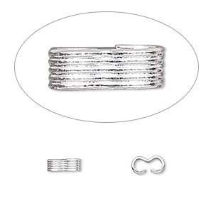 link, silver-plated brass, 6.5x2.5mm with lined pattern. sold per pkg of 100.