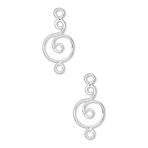 link, sterling silver, 12x9mm wire circle. sold per pkg of 2.