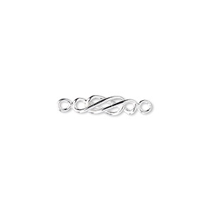 link, sterling silver, 13x4mm infinity design. sold per pkg of 6.