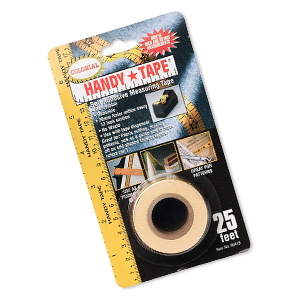 measuring tape, handy*tape, self-adhesive, 3/4 wide. sold per 25-foot spool.