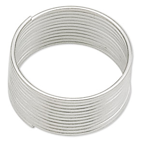 memory wire, stainless steel, 1/2 inch toe ring, 0.65-0.75mm thick. sold per pkg of 12 loops.