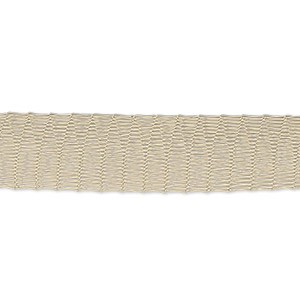 mesh ribbon, enameled brass, gold, 12mm tubular, fits up to 18mm bead. sold per 1-meter pkg.