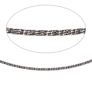 neckwire, rhodium-plated sterling silver, 1.2mm diamond-cut snake chain, 16 inches with 2mm friction clasp. sold individually.