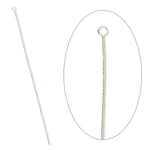 needle, brass, 2-1/2 to 3-inch twisted, #10 medium-heavy. sold per pkg of 10.