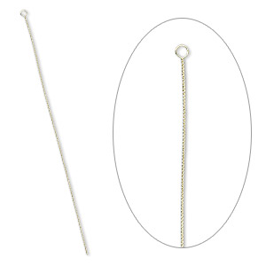 needle, brass, 2-1/2 to 3-inch twisted, #10 medium-heavy. sold per pkg of 100.
