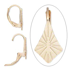 Leverback Earrings Gold-Filled Gold Colored