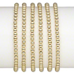 Stretch Bracelets Gold Colored Just for Fun
