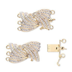 Box (Tab) Clasp Karat Gold Gold Colored