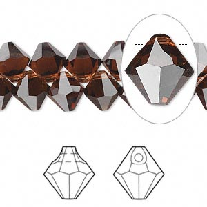 Drop Swarovski Crystal Crystal Passions 174 Mocca 8mm