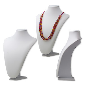Necklace Displays Velveteen Whites