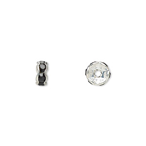 Spacer Beads Silver Plated/Finished Blacks