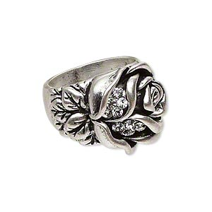 Finger Rings Silver Plated/Finished Silver Colored