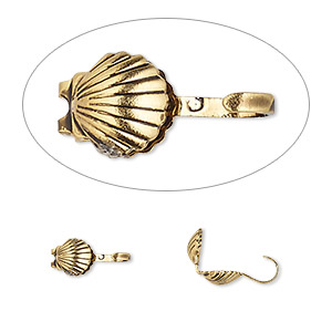 Clam-Shell Gold Plated/Finished Gold Colored