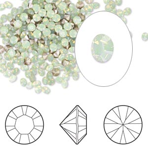Point-Back Swarovski Chrysolite Opal