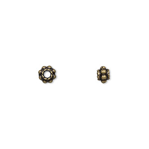 Spacer Beads Brass Plated/Finished Gold Colored