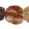 Petrified Wood Gemstone Beads