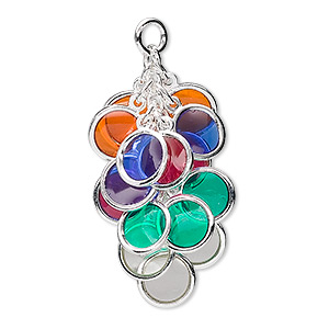 Drops Silver Plated/Finished Multi-colored
