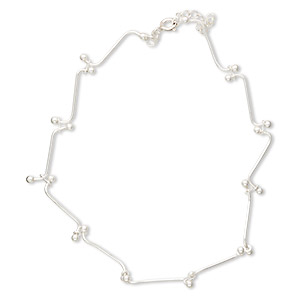 Anklets Sterling Silver Silver Colored