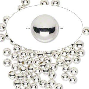 Spacer Beads Sterling Silver-Filled Silver Colored