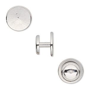 Cuff Links Imitation rhodium-plated Silver Colored
