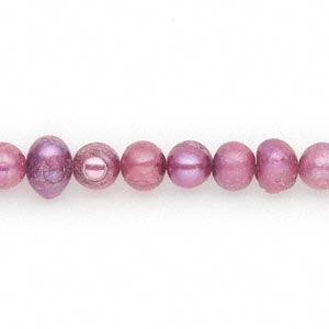 pearl, cultured freshwater (dyed), wine, 6mm semi-round, d grade, mohs hardness 2-1/2 to 4. sold per 16-inch strand.