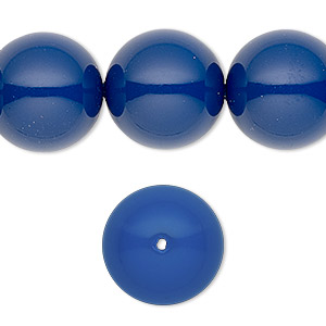 pearl, swarovski crystal gemcolors, dark lapis, 16mm round with 1.3-1.5mm hole (5811). sold per pkg of 25.