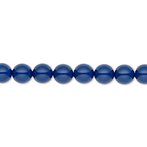 pearl, swarovski crystal gemcolors, dark lapis, 6mm round (5810). sold per pkg of 500.