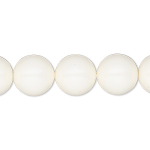 pearl, swarovski crystal gemcolors, ivory, 12mm round (5810). sold per pkg of 100.