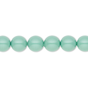 pearl, swarovski crystal gemcolors, jade, 8mm round (5810). sold per pkg of 50.
