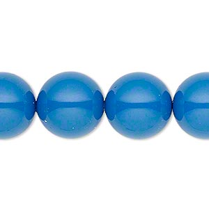pearl, swarovski crystal gemcolors, lapis, 14mm round with 1.3-1.5mm hole (5811). sold per pkg of 50.