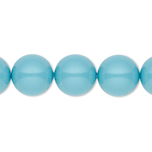 pearl, swarovski crystal gemcolors, turquoise, 12mm round (5810). sold per pkg of 10.