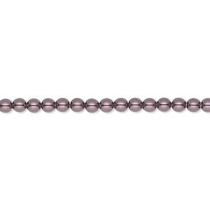 pearl, swarovski crystals, burgundy, 3mm round (5810). sold per pkg of 100.