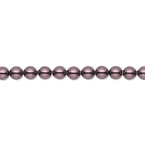 pearl, swarovski crystals, burgundy, 4mm round (5810). sold per pkg of 100.