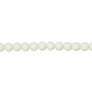 pearl, swarovski crystals, crystal pastel green, 4mm round (5810). sold per pkg of 100.
