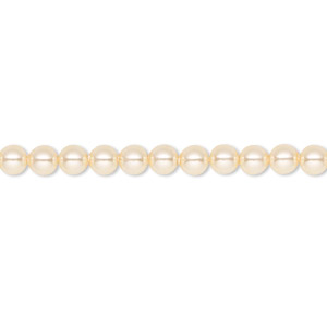 pearl, swarovski crystals, light gold, 4mm round (5810). sold per pkg of 100.