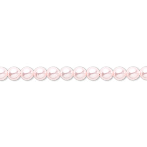 pearl, swarovski crystals, rosaline, 4mm round (5810). sold per pkg of 500.