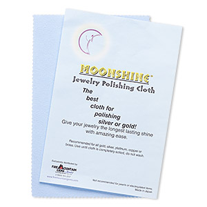 polishing cloth, moonshine, blue, 7-1/2 x 5 inches. sold per pkg of 6.