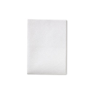 polishing cloth, polyester and polyamide, white, 13.5x10-inch rectangle. sold per pkg of 3.