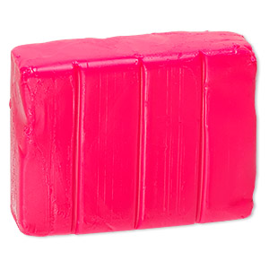 polymer clay, premo! sculpey accents, fluorescent pink. sold per 2-ounce bar.