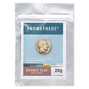 prometheus bronze clay, rapid and low fire. sold per 20-gram pkg.