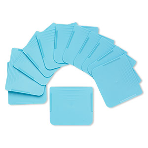 replacement organizer divider, artbin tarnish inhibitor, plastic, teal blue, 2x1-3/4 inch rectangle. sold per pkg of 12.