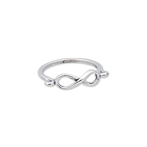 ring, sterling silver, 5mm wide with infinity design, size 5-1/2. sold individually.