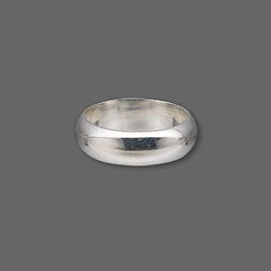 ring, sterling silver, 6mm wide, size 6. sold individually.