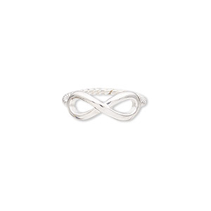 ring, sterling silver, 7mm wide with infinity design and twisted band, size 7. sold individually.